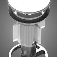 Basin Pop Down Waste Universal Matt Black 32/40mm